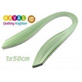 Quilling Kağıdı - Buz Yeşili Renk 1cmx50cm 100'lü
