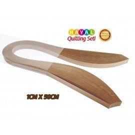 Quilling Kağıdı - Açık Kahverengi 1cm x 50cm 100'lü