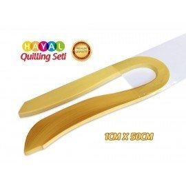 Quilling Kağıdı - Açık Sarı Renk 1cm 100'lü