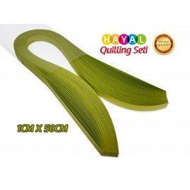 Quilling Kağıdı - Fıstık Yeşili (Neon) Renk 1cmx50cm 100'lü
