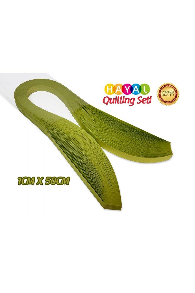 Quilling Kağıdı - Fıstık Yeşili (Neon) Renk 1cmx50cm 100lü