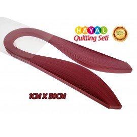 Quilling Kağıdı - Gül Kurusu Rengi 1cm x 50cm 100'lü