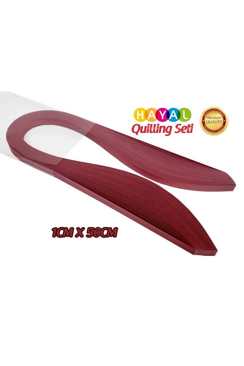 Quilling Kağıdı - Gül Kurusu Rengi 1cm x 50cm 100lü