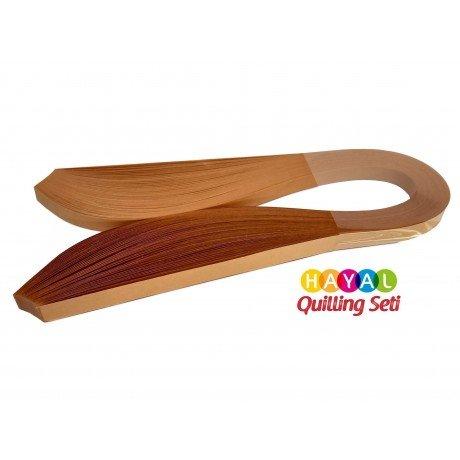 Quilling Kağıdı - Hardal Rengi 1cm x 50cm 100lü