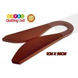 Quilling Kağıdı - Kiremit Kırmızısı Rengi 1cm x 50cm 100'lü