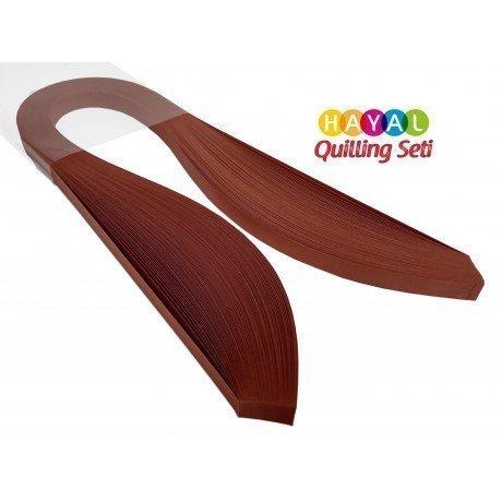 Quilling Kağıdı - Kiremit Kırmızısı Rengi 1cm x 50cm 100lü