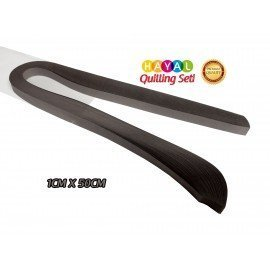 Quilling Kağıdı - Koyu Gri (Antresit) Renk 1cm 100'lü
