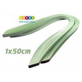 Quilling Kağıdı - Buz Yeşili Renk 1x50cm 200'lü