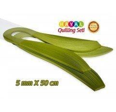 Quilling Kağıdı - Fıstık Yeşili (Neon) Renk 200'lü