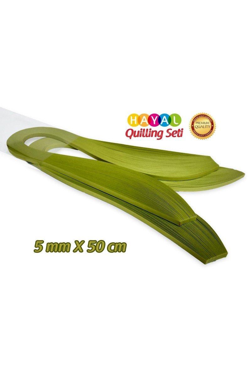 Quilling Kağıdı - Fıstık Yeşili (Neon) Renk 200lü