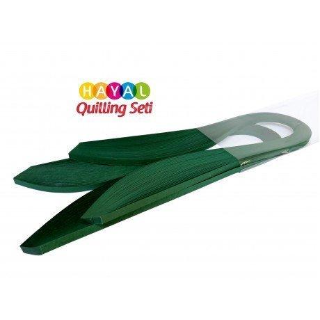 Quilling Kağıdı Tek Renk - Petrol Yeşili Renk 200lü