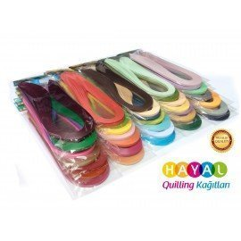 Hayal 36 Farklı Renkli Quilling Kağıt Seti